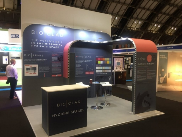 Bio Clad Modular Exhibition Stand by Oaks Exhibitions