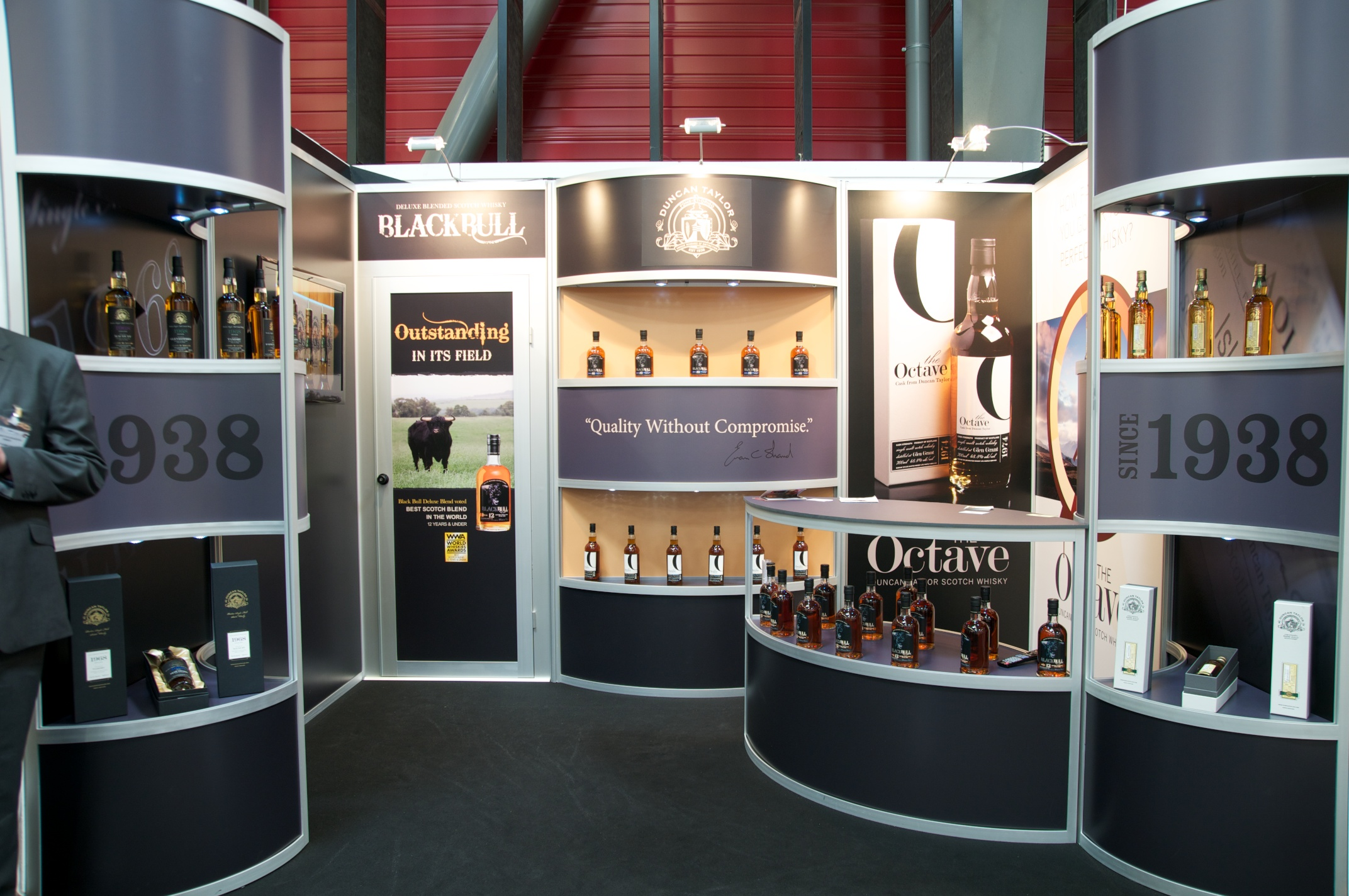 Black Bull Modular Exhibition Stand by Oaks Exhibitions