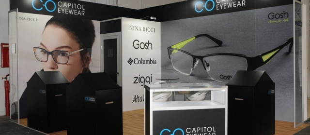 Capitol Eyewear Modular Exhibition Stand by Oaks Exhibitions