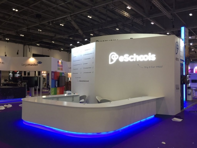 eSchools Exhibition Stand by Oaks Exhibitions