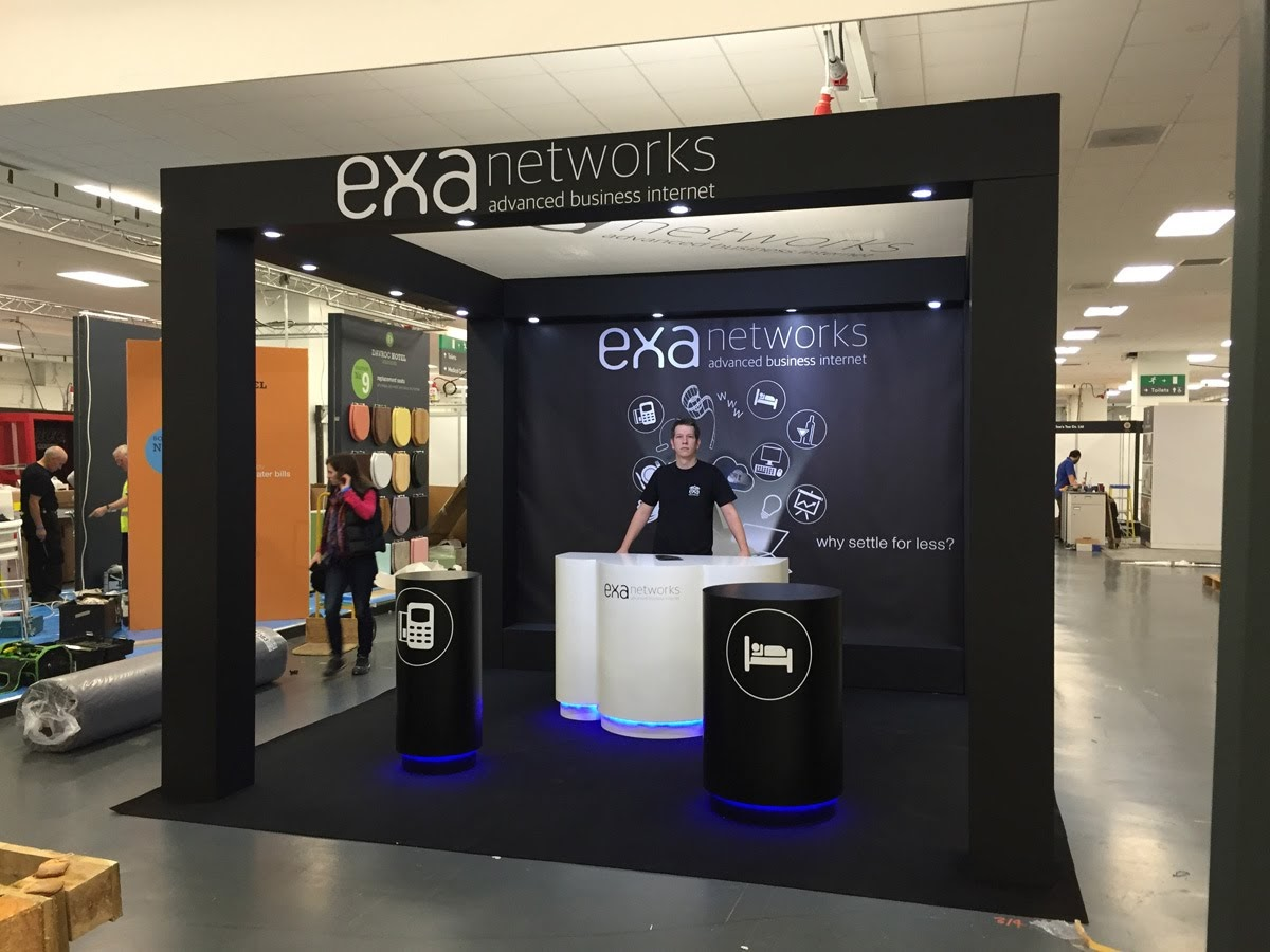 EXA Networks Exhibition Stand by Oaks Exhibitions
