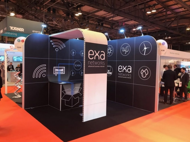EXA Networks Modular Exhibition Stand by Oaks Exhibitions