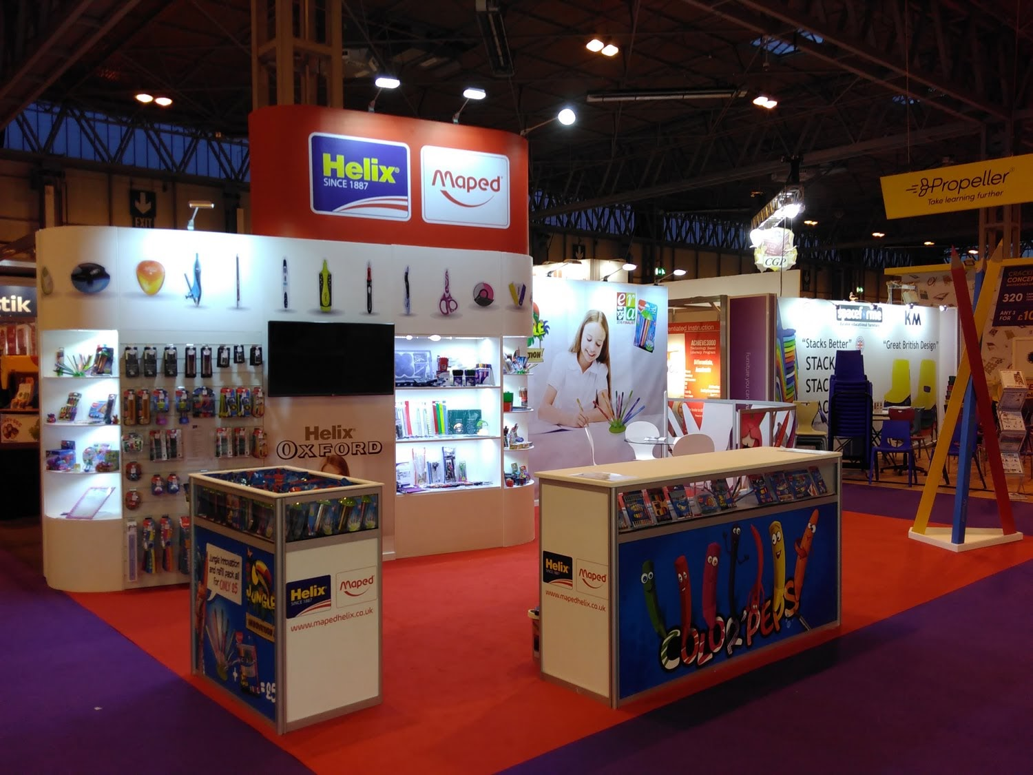 Helix Exhibition Stand by Oaks Exhibitions
