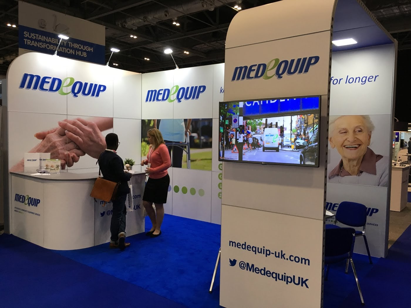 Medequip Modular Exhibition Stand by Oaks Exhibitions