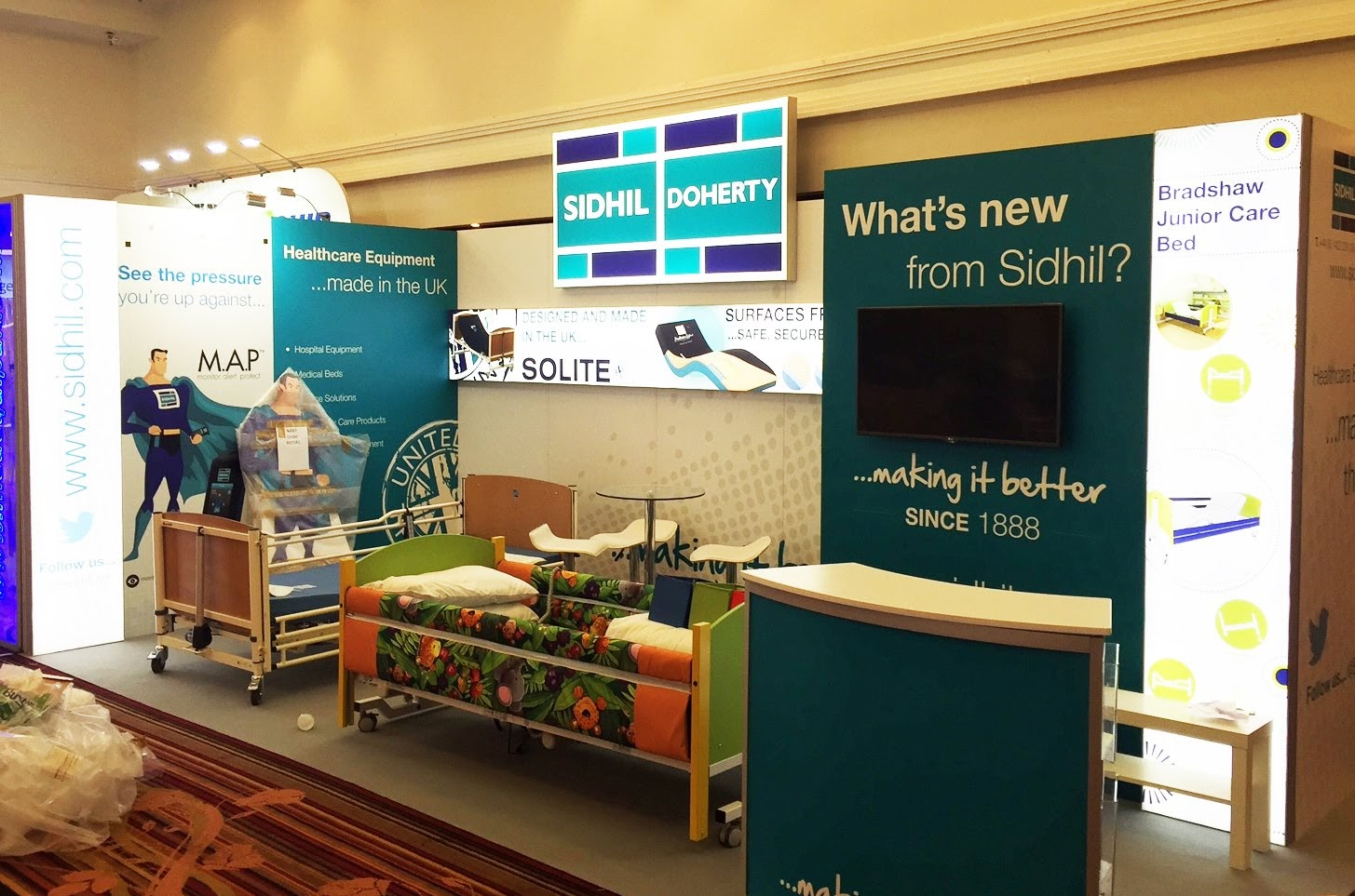 Sidhil Modular Exhibition Stand by Oaks Exhibitions
