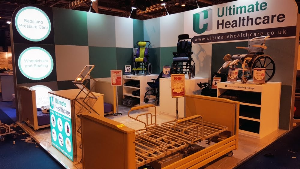 Ultimate Health Modular Exhibition Stand by Oaks Exhibitions