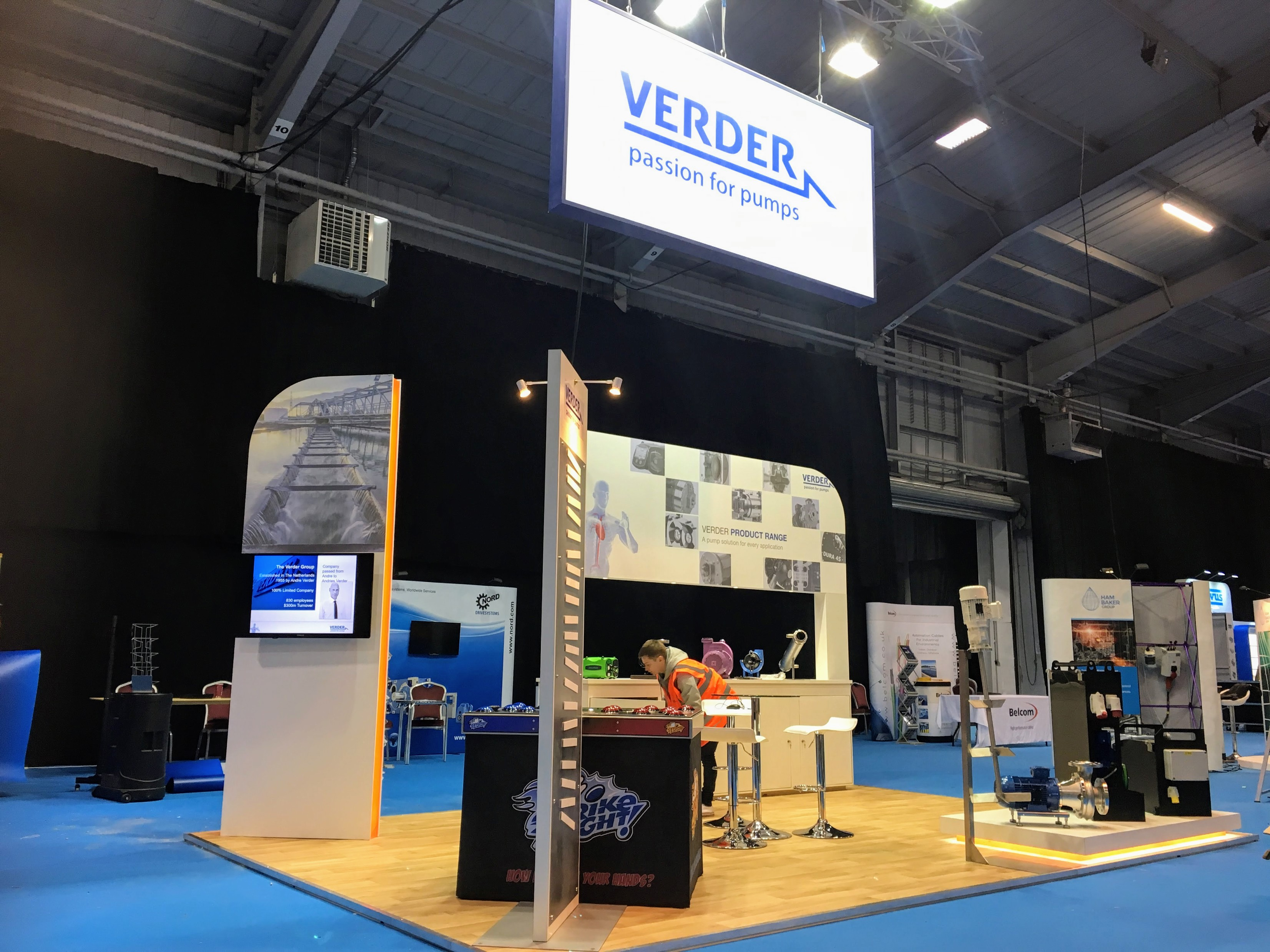 Verder Pumps Exhibition Stand by Oaks Exhibitions