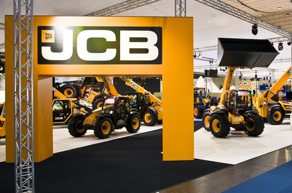 JCB Exhibition Stand by Oaks Exhibitions