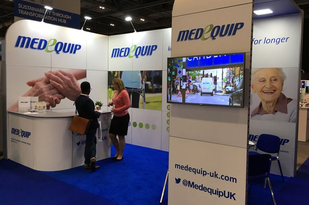 Medequip Exhibition Stand by Oaks Exhibitions